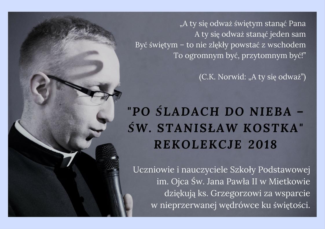 Rekolekcje 2018